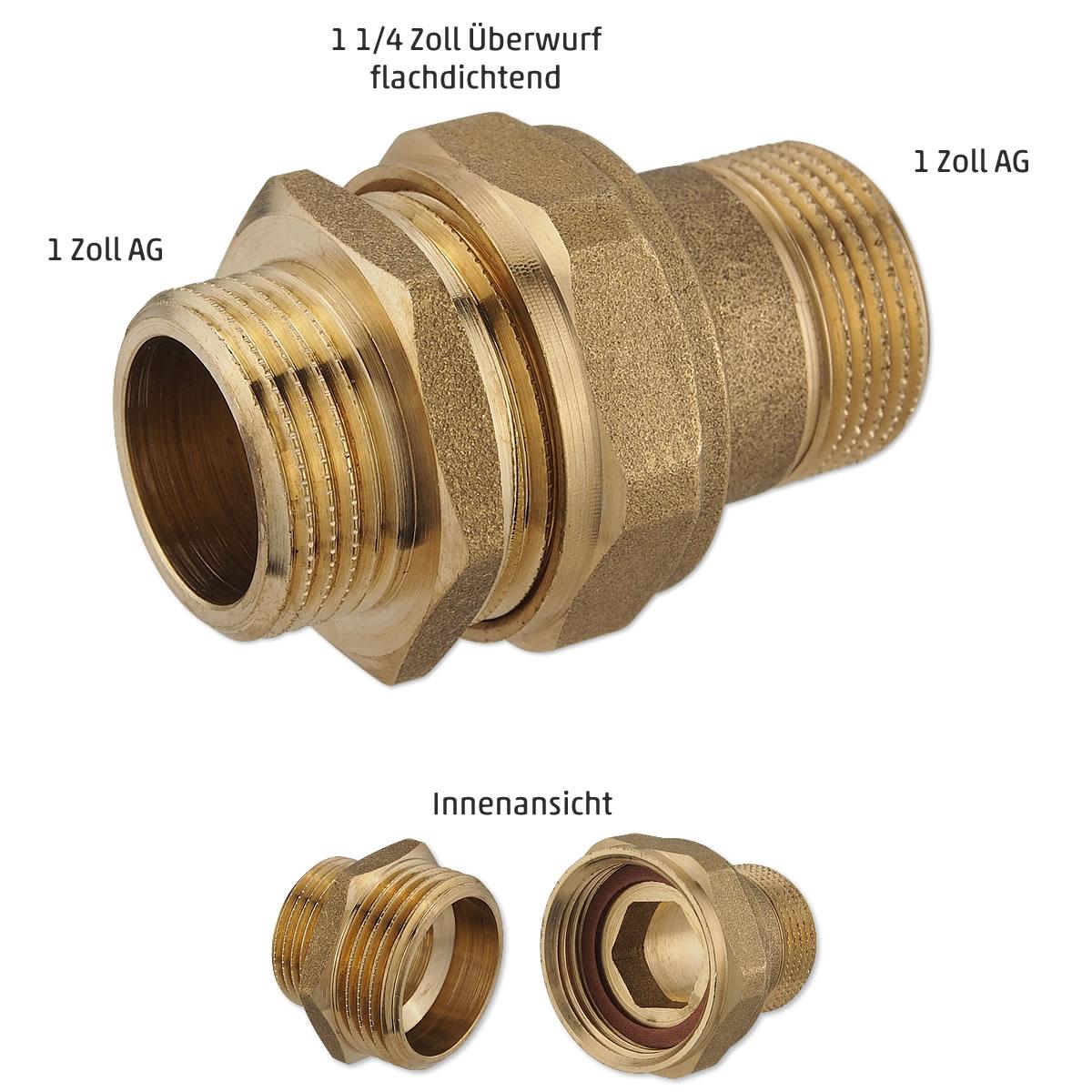Sehr Verschraubung 1 Zoll Flachdichtend MJ59 – Hitoiro TT05