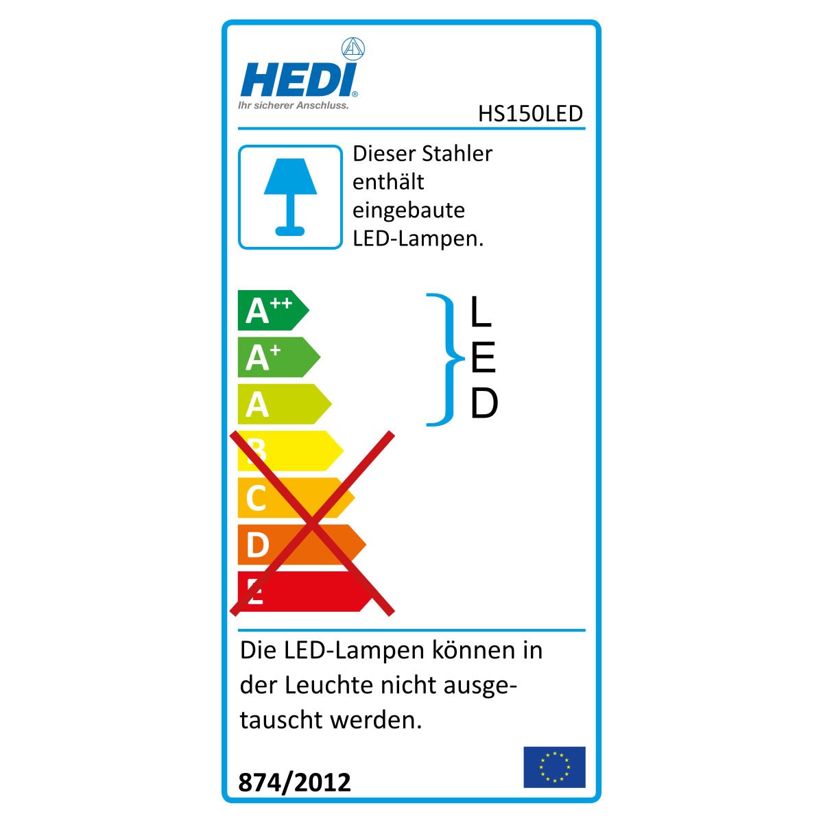 hedi led baustellen strahler 150 watt lumen. Black Bedroom Furniture Sets. Home Design Ideas
