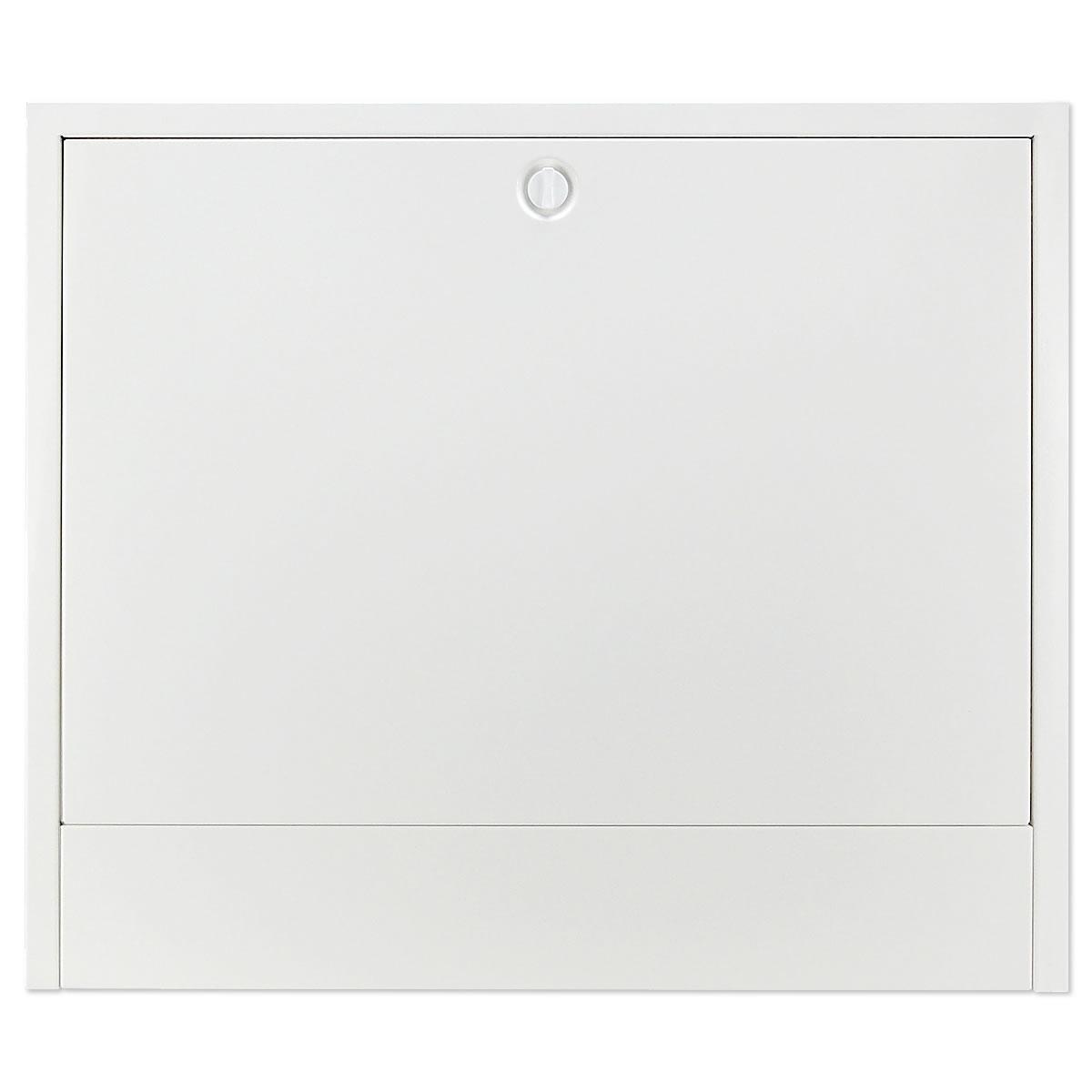 aufputz verteilerschrank farbe wei f r 6 8 heizkreise heizung. Black Bedroom Furniture Sets. Home Design Ideas