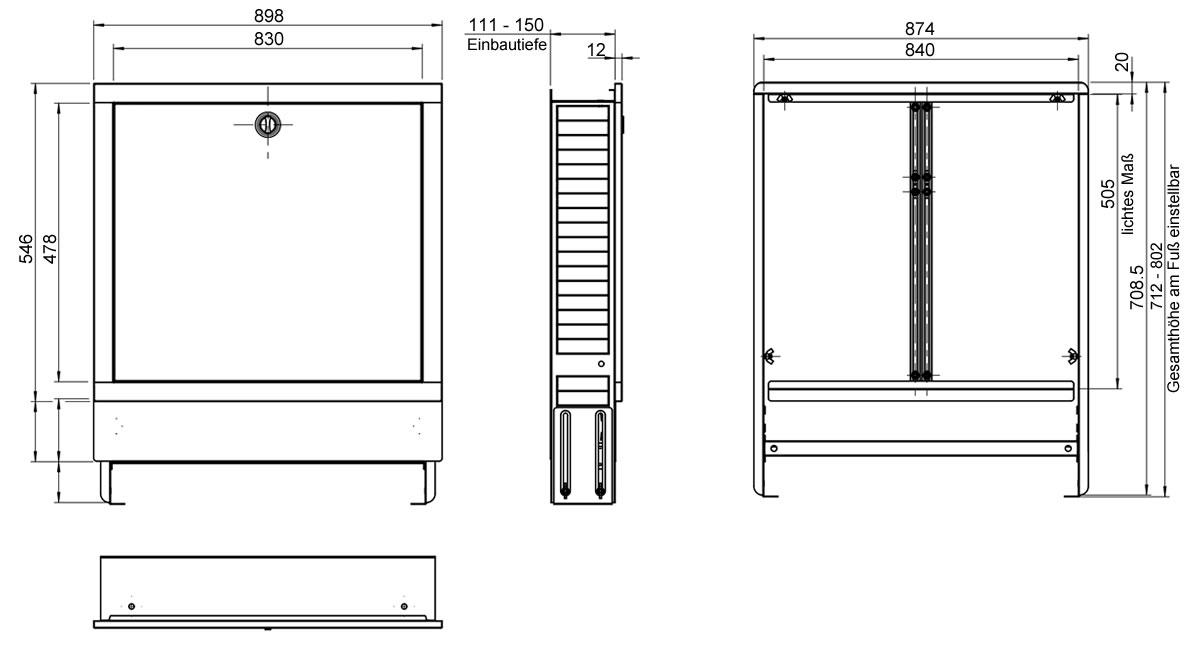 Unterputz Verteilerschrank Farbe Weiss Fur 9 12 Heizkreise