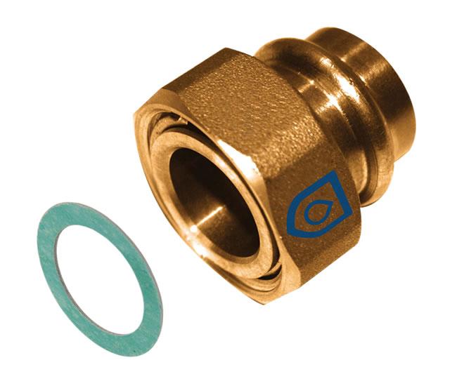 AussenDVGW-Gas+Wasser Redu Innen V Profil Kupfer Pressfitting Reduzierung