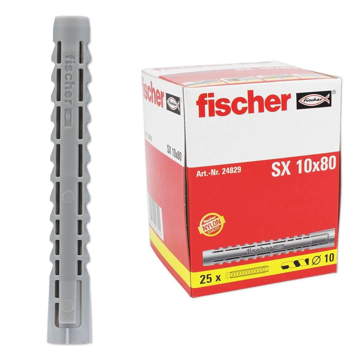 Trendig 25 Stk. Fischer Dübel SX 10 x 80 - 24829 (Installation) | heima24.de JH56