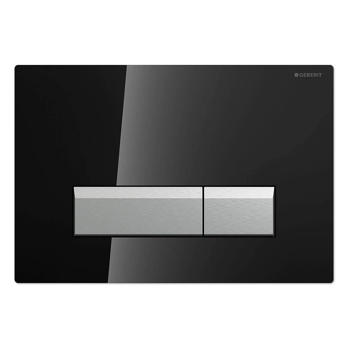 geberit sigma40 mit geruchsabsaugung glas schwarz chrom alu geb rstet 115600sj1. Black Bedroom Furniture Sets. Home Design Ideas