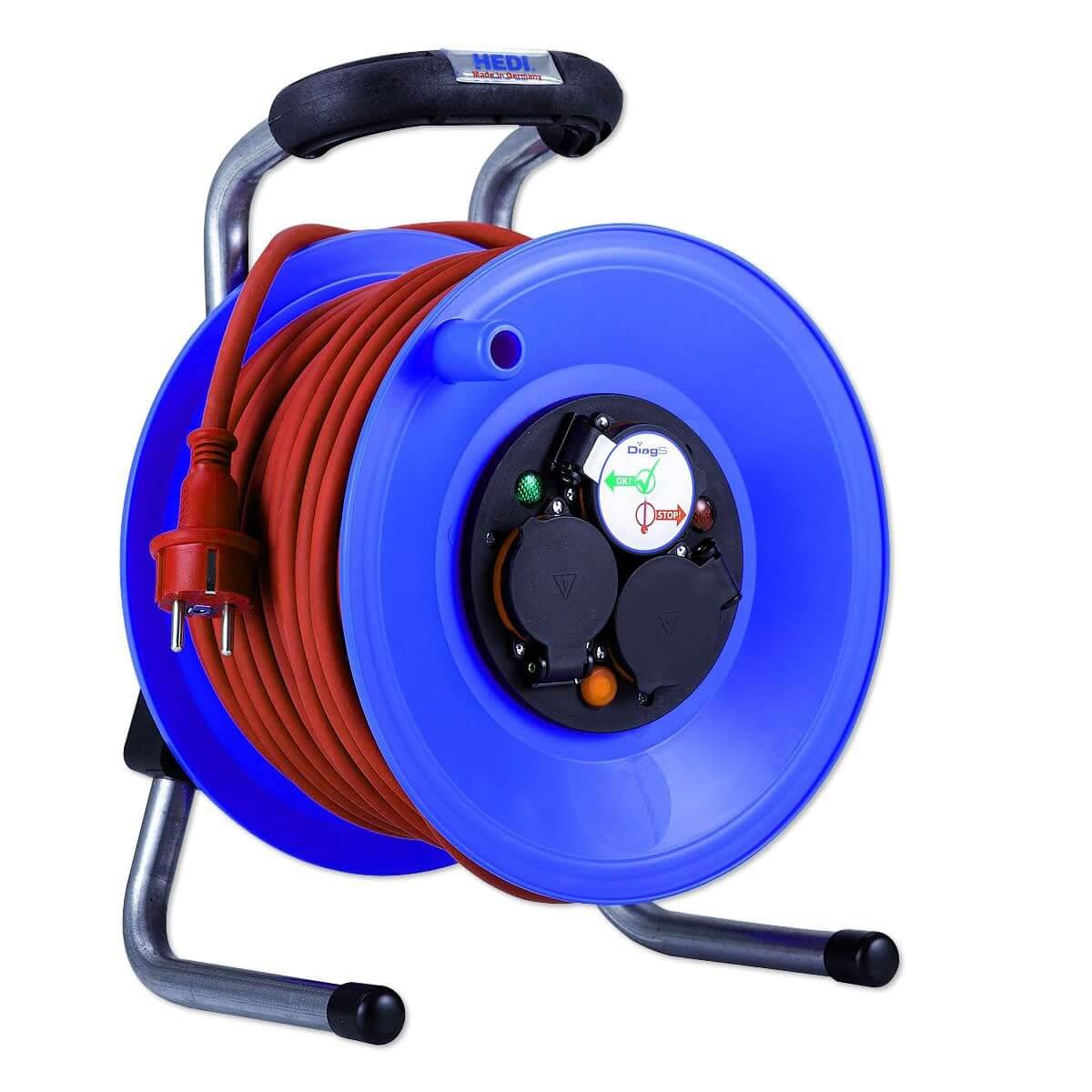 HEDI Kunststoff-Kabeltrommel \'\'Primus\'\' Ø 255 mm - 40 m Kabel (rot ...