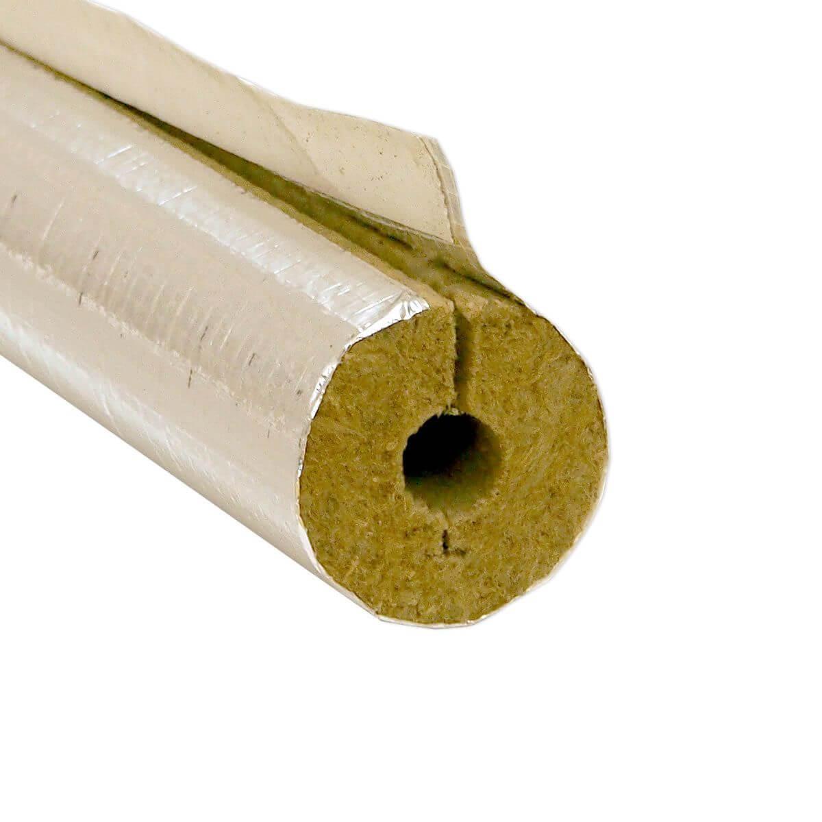 Mineralwolle Rohrisolierung Alukaschiert 18 20 Geschlitzt 50 Enev