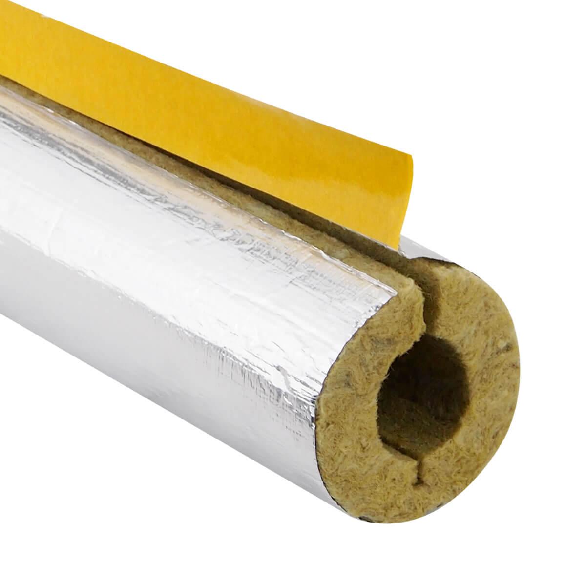 Isolierung Rohrschale Alu alukaschiert aus Steinwolle ab 1,00 €//m