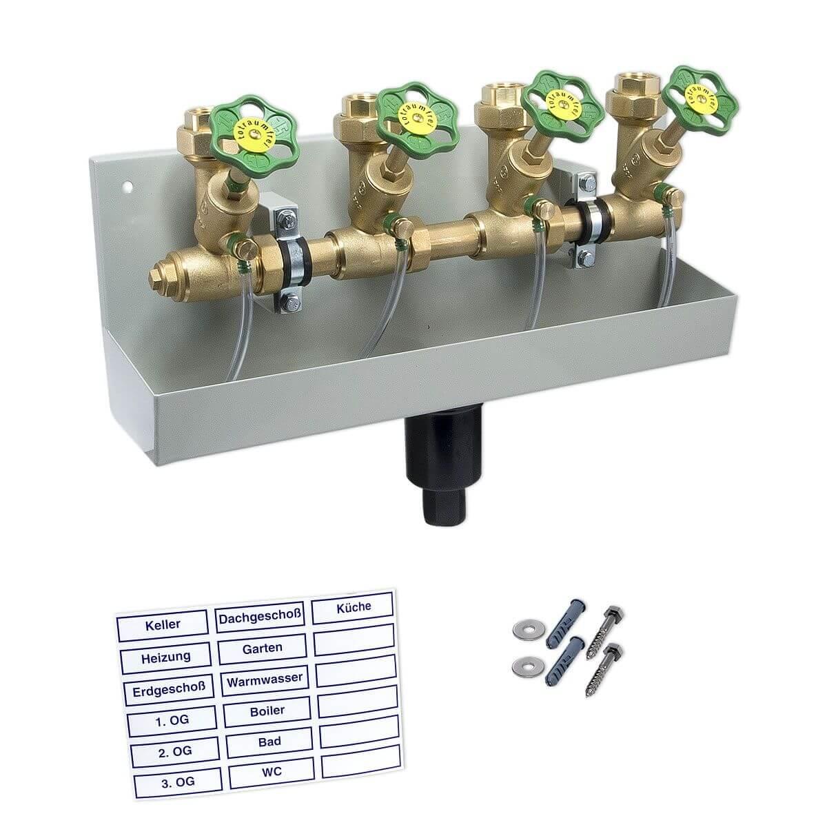 Gut bekannt Kompakt-Wasserverteiler, Zulauf 1'' mit 4 Abgängen TQ69