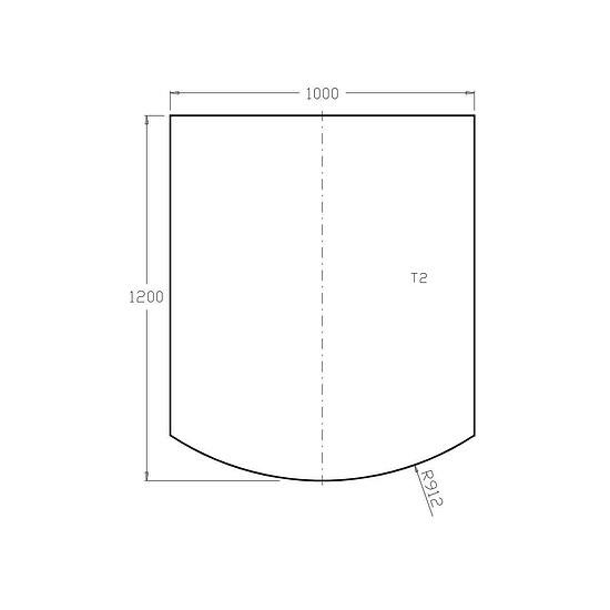 Bodenplatte aus Edelstahl 2 mm - 1.200 x 1.000 mm - für Kaminofen