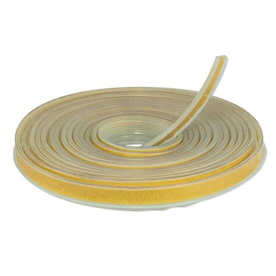 Dichtlippe aus Silikon - Länge 5 m - mit selbstklebender Beschichtung für Bodenplatten aus Glas - 7747009942