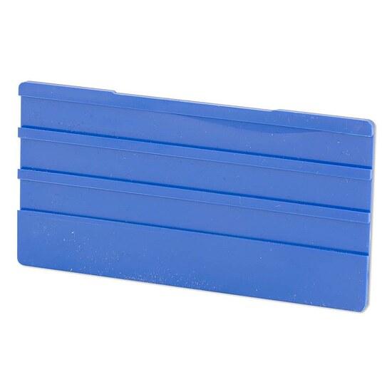 simplex leerschild 100 x 50mm f r universalhalter farbe blau. Black Bedroom Furniture Sets. Home Design Ideas