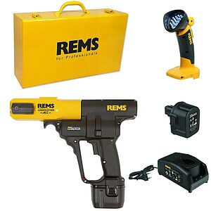 REMS Akku-Press ACC Radial-Pressmaschine + 2 Akku Li-Ion 14,4 V - 3,2 Ah + LED-Lampe + Koffer - Aktionspaket 571X02
