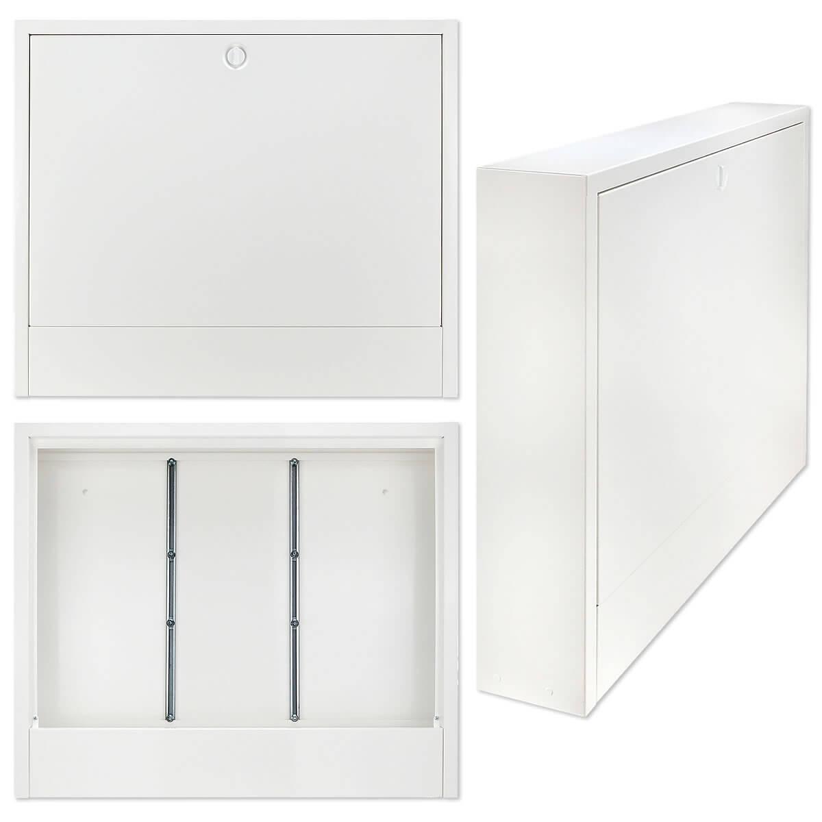 aufputz verteilerschrank farbe wei f r 9 10 heizkreise heizung. Black Bedroom Furniture Sets. Home Design Ideas
